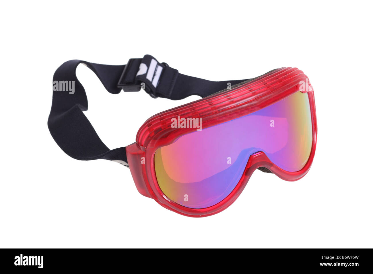 Ski goggles cut out isolated on white background - Stock Image