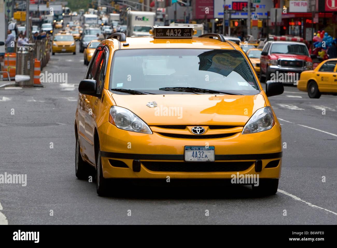 Toyota taxicab in Manhattan New York City New York USA - Stock Image