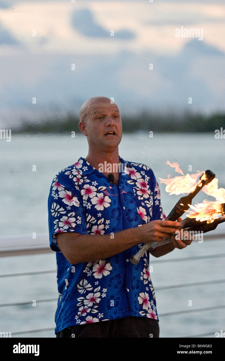 Entertainer demonstrating his skills at the nightly Sunset Festival at Mallory Square in Key West Florida - Stock Image