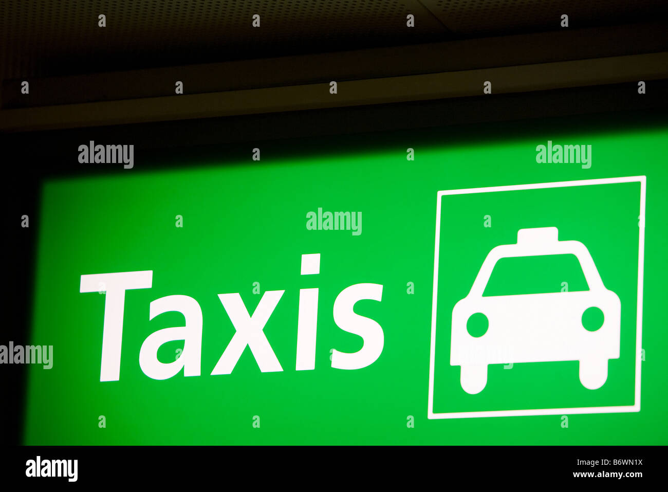 Sign for taxis - Stock Image