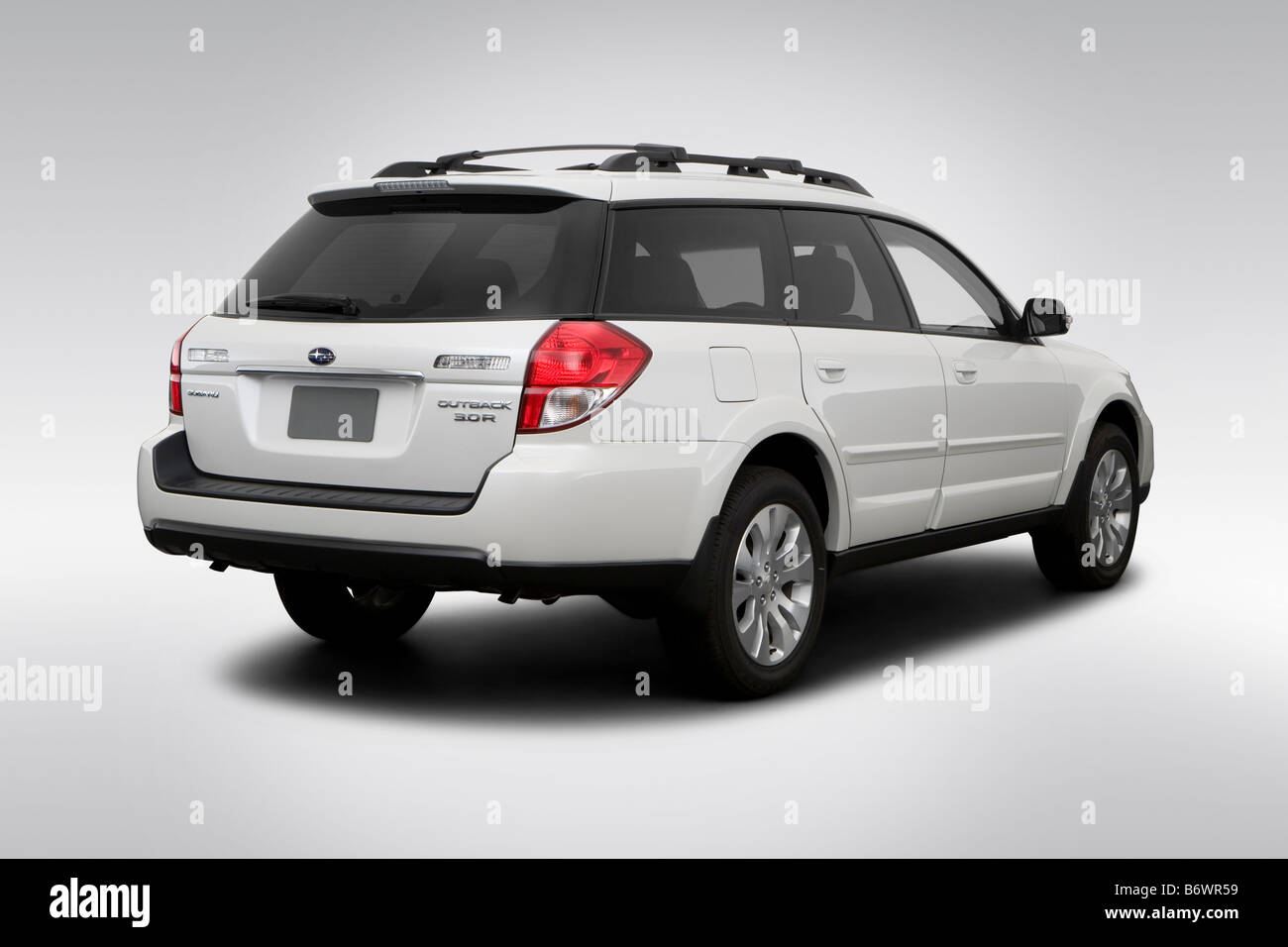 Subaru Outback Stock Photos Images Alamy 1998 Limited 2009 30 R In White Rear Angle View Image