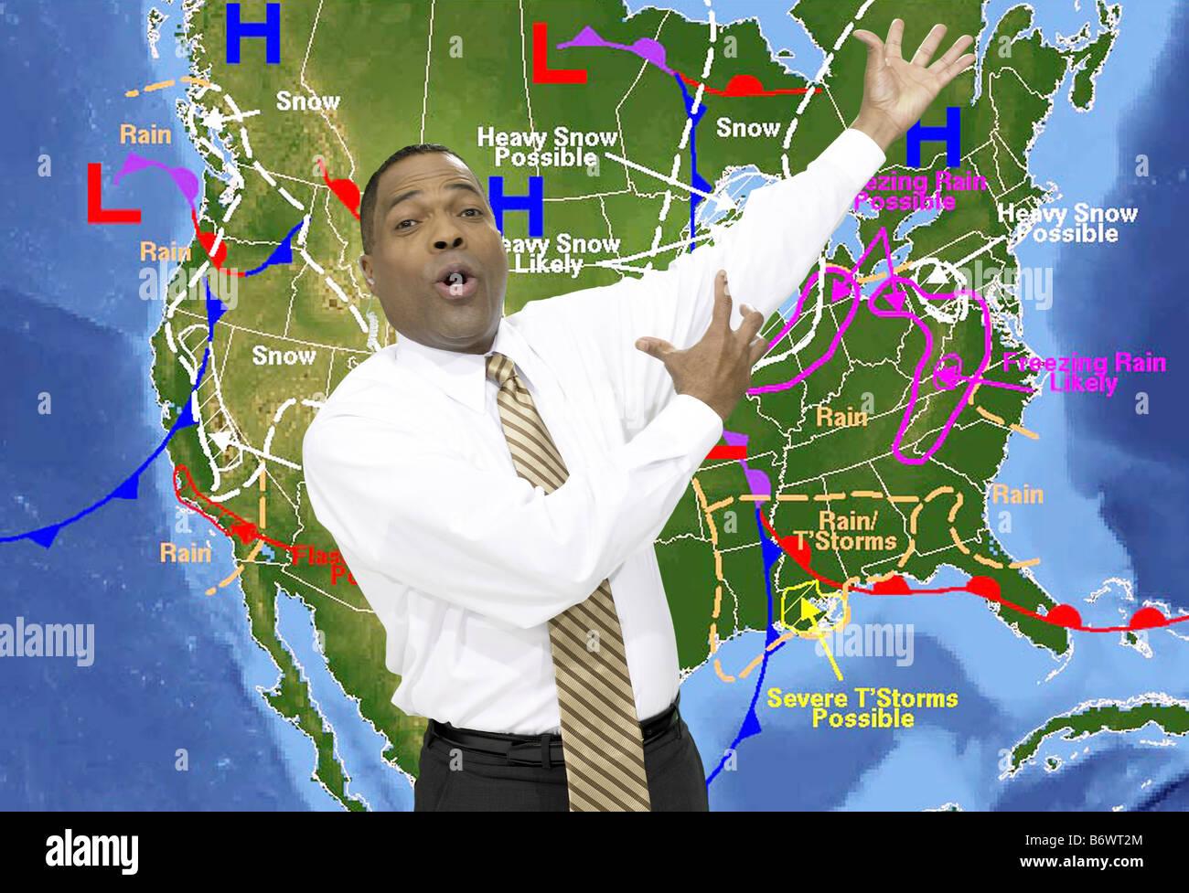 Weather presenter - Stock Image