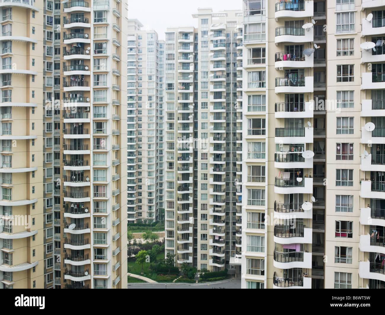 Shanghai apartment buildings - Stock Image