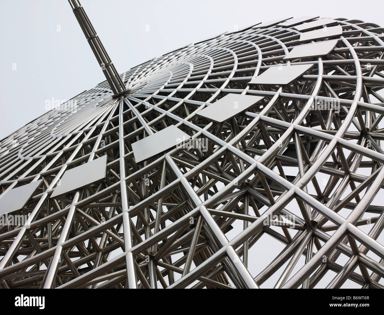 Sundial sculpture in pudong shanghai - Stock Image