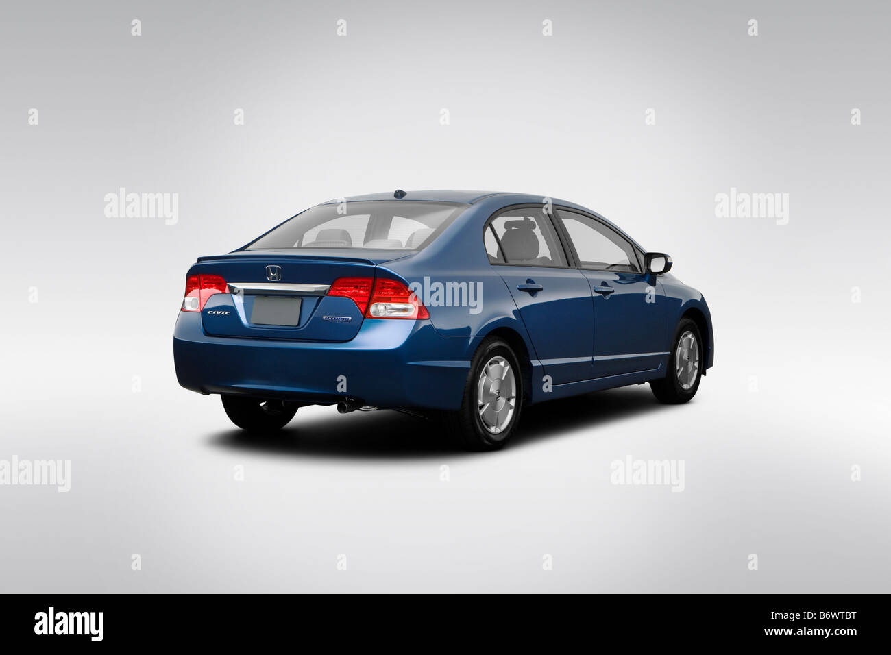 2009 Honda Civic Hybrid In Blue   Rear Angle View