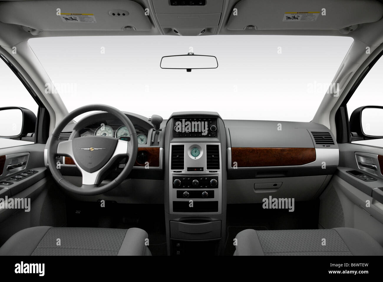 2009 chrysler town country touring in blue dashboard center stock photo 21466337 alamy. Black Bedroom Furniture Sets. Home Design Ideas