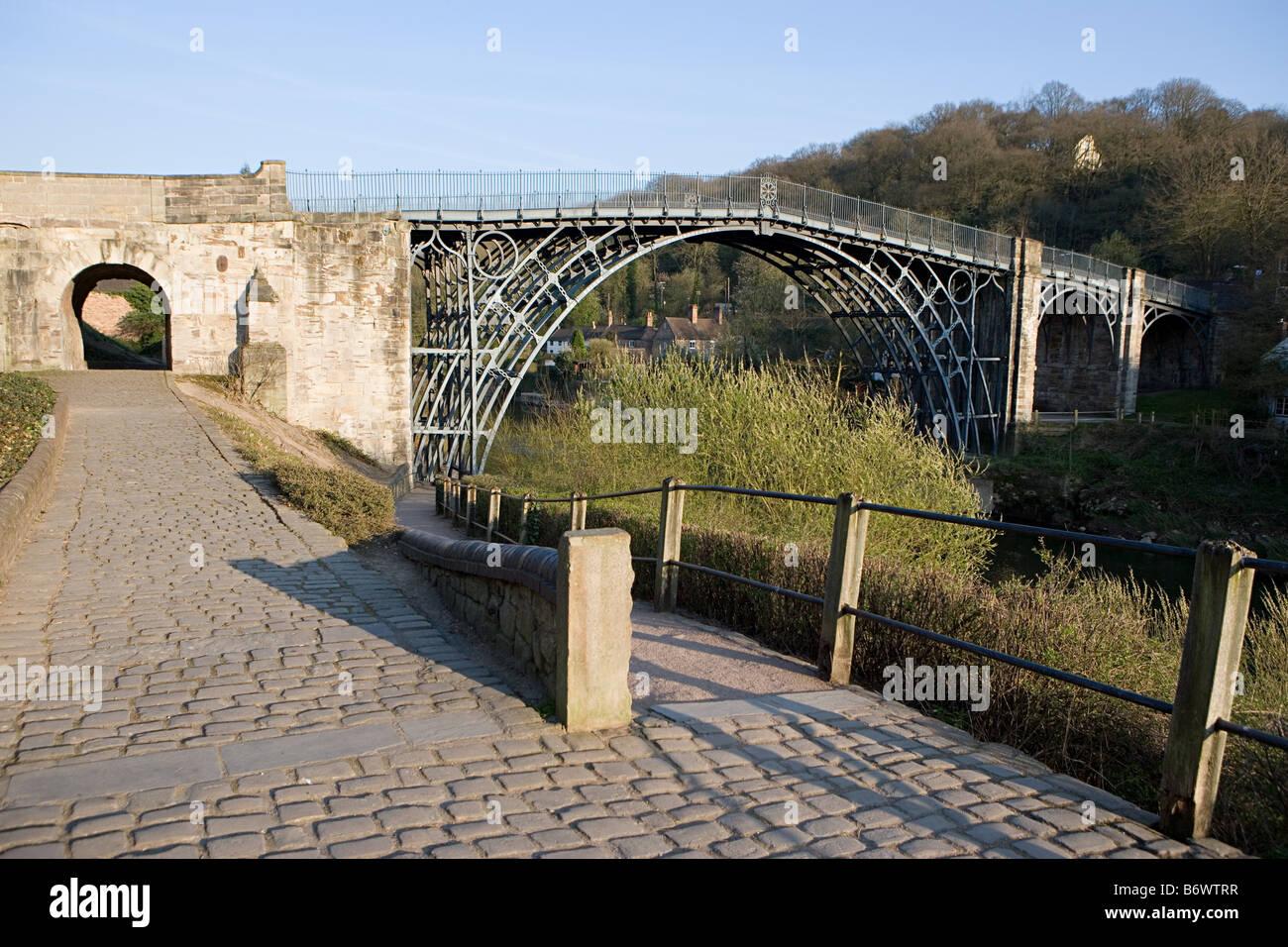 Iron bridge in shropshire - Stock Image