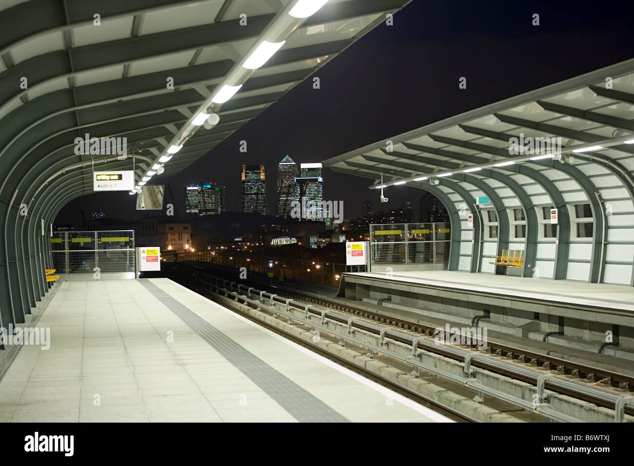 DLR station - Stock Image