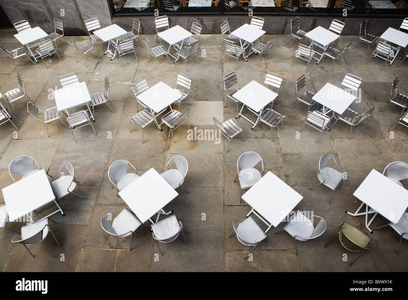 Cafe chairs and tables - Stock Image