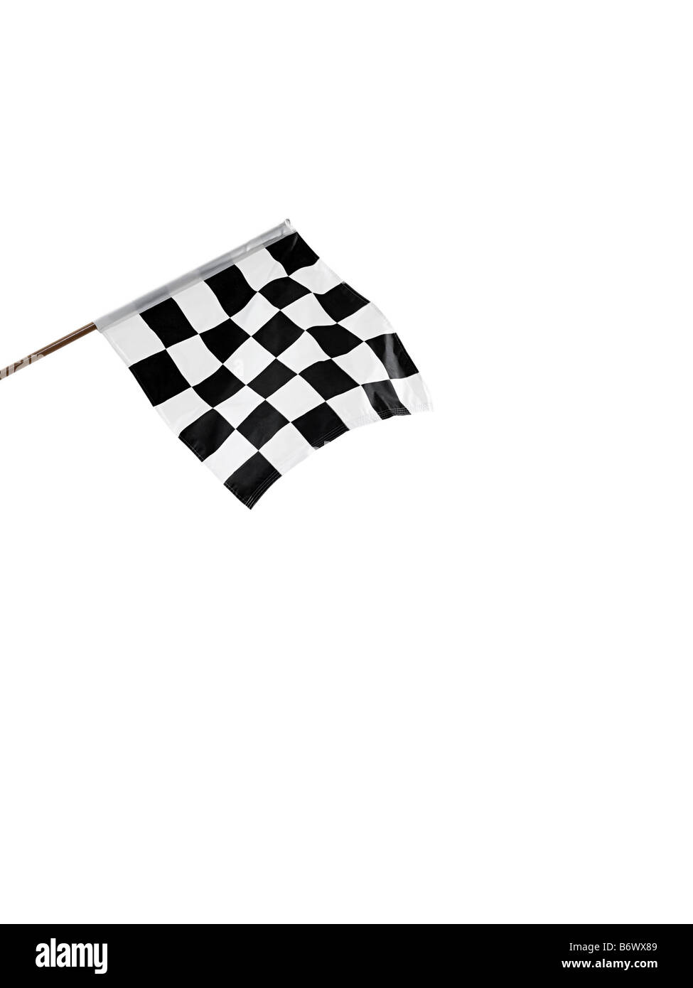 A chequered flag - Stock Image