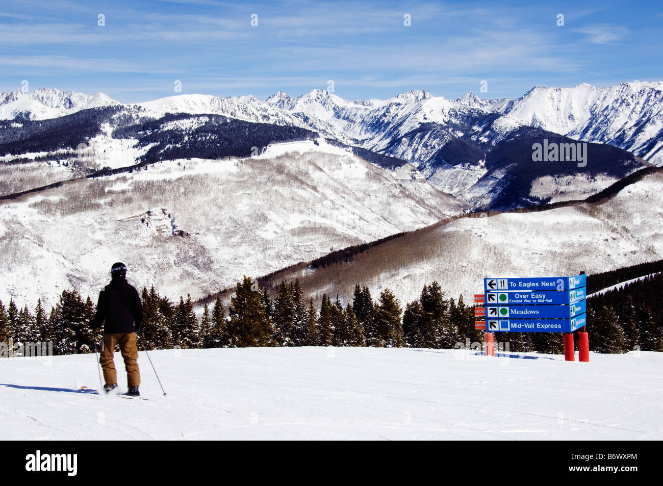 USA, Colorado, Vail Ski Resort and the Gore mountains - Stock Image