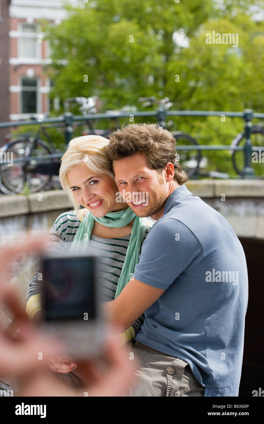 Couple being photographed - Stock Image