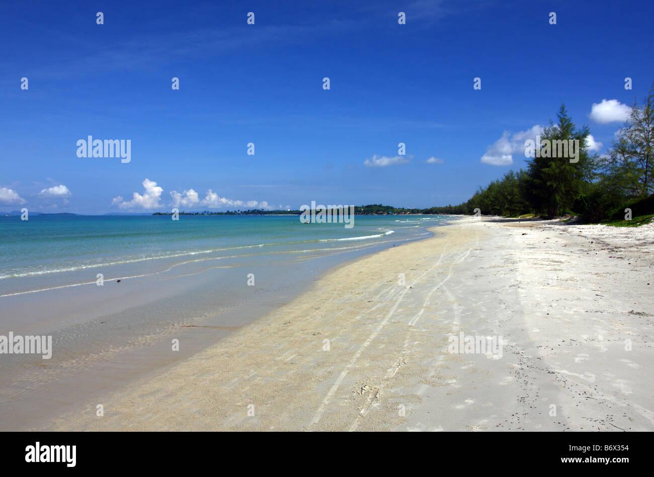 Serendipity beach, Sihanoukville Cambodia - Stock Image