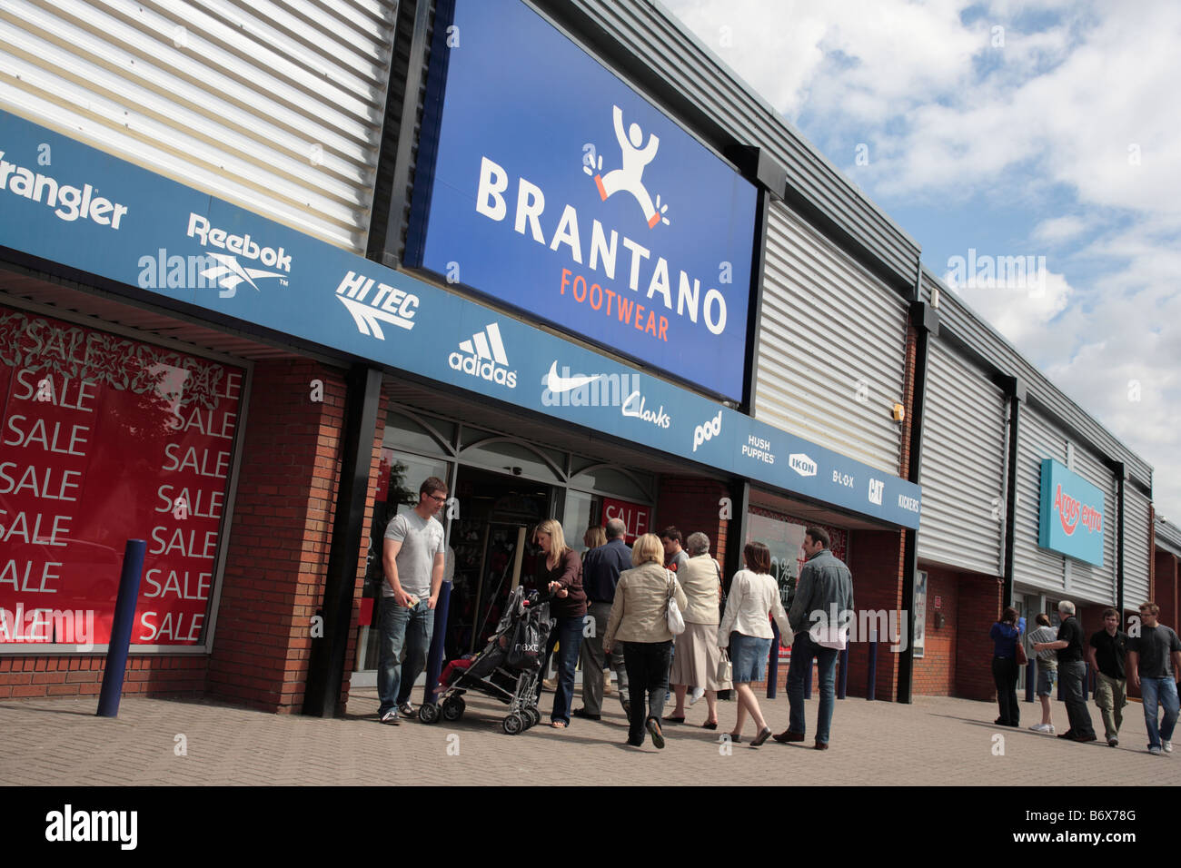 aba3024f Brantano store, Festival Retail Park, Stoke-on-Trent Stock Photo ...