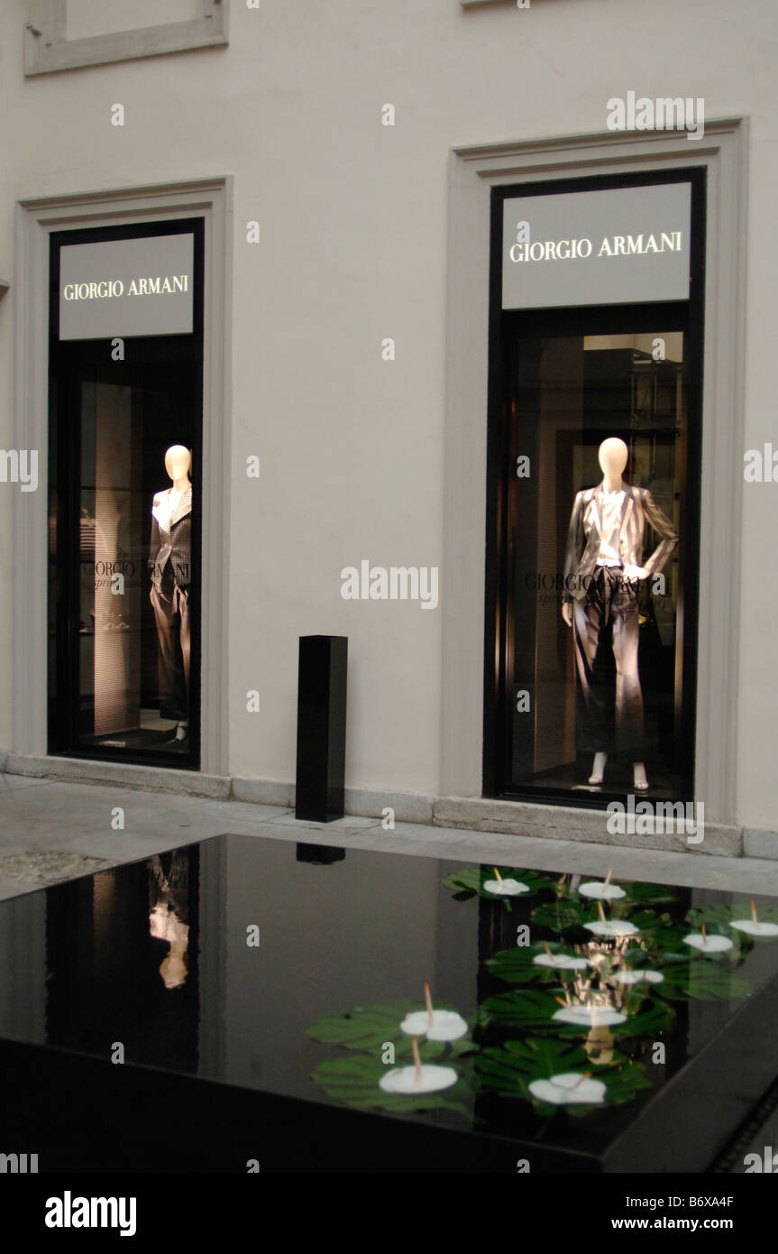 Armani stock photos armani stock images alamy for Armadi outlet milano