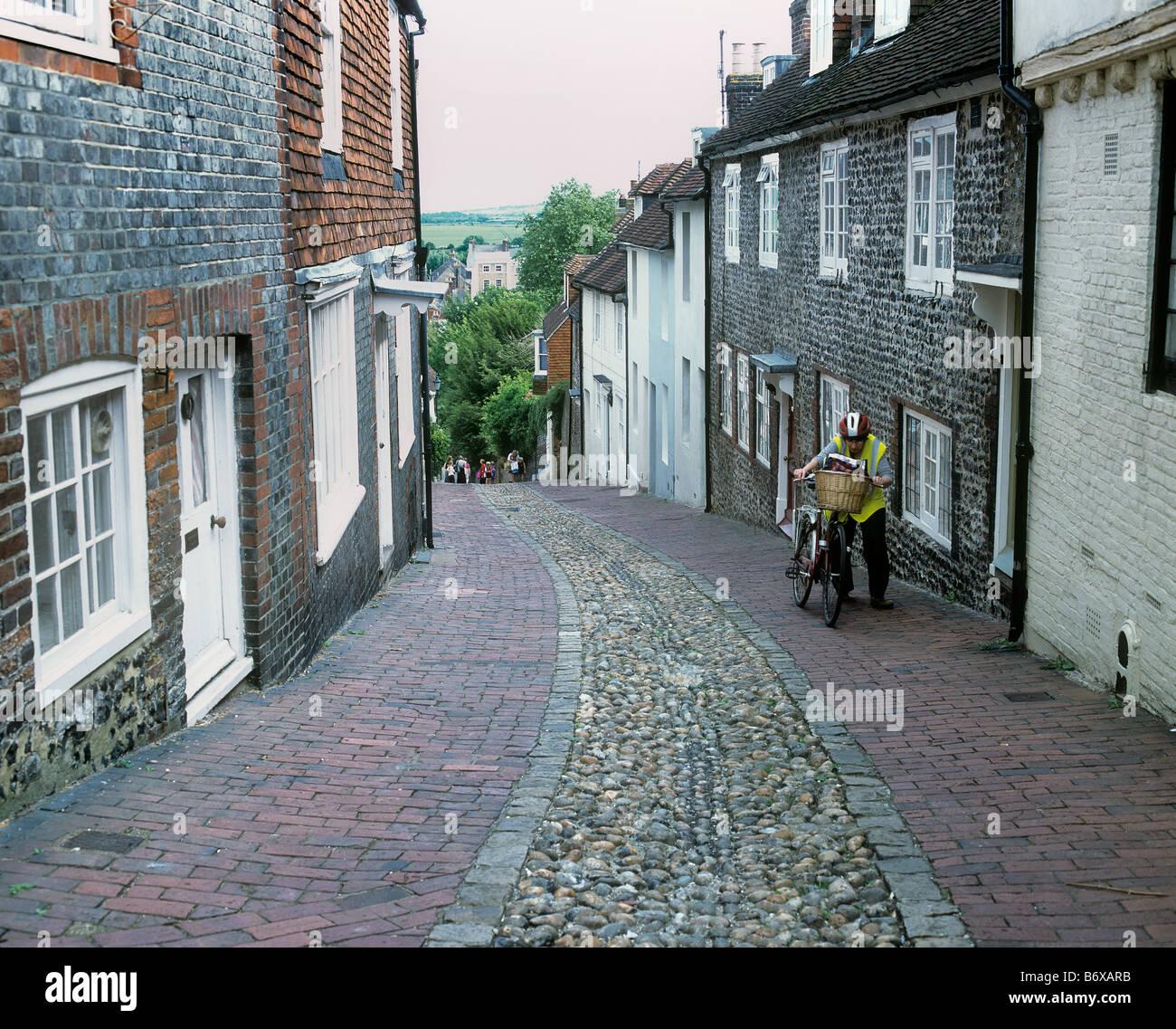 Keere St. Lewes, East Sussex. Stock Photo