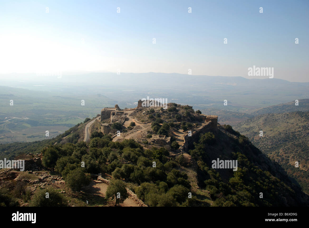 Above the Nimrod Fortress National Park - Stock Image