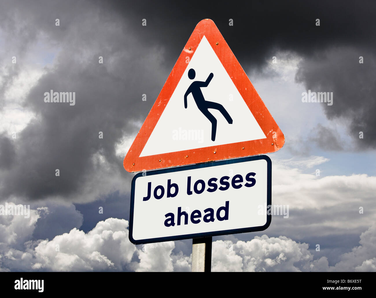 Unemployment job losses concept UK - Stock Image