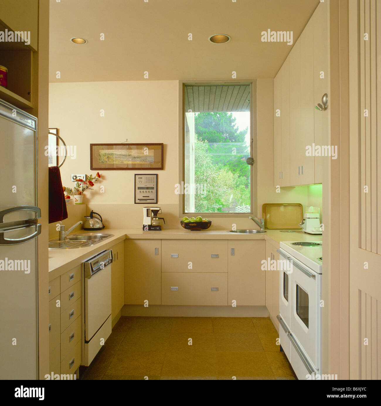 Contemporary Galley Kitchen Images: Country Interiors Kitchens Modern Stock Photos & Country