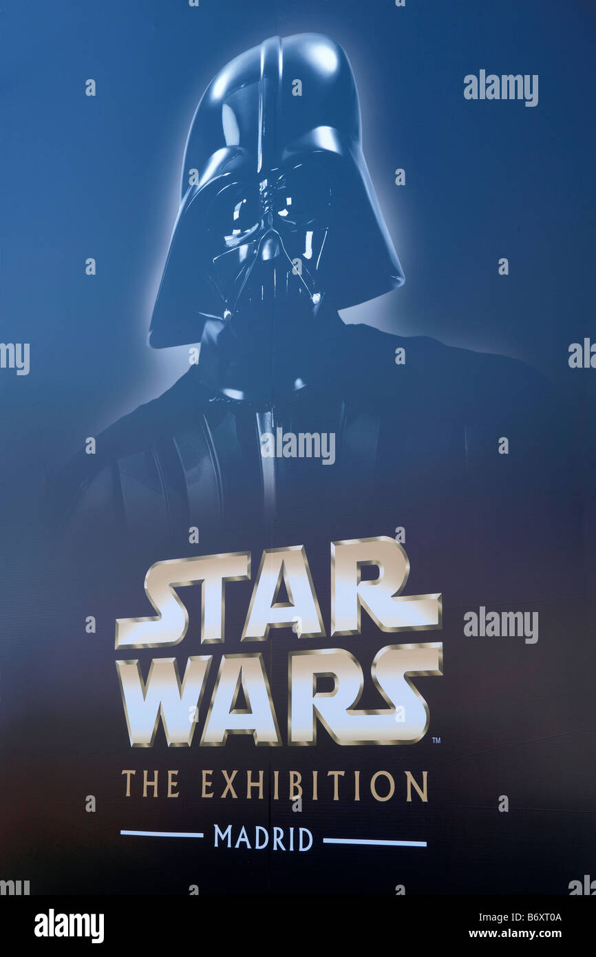 Star Wars Exhibition ad in Madrid Stock Photo