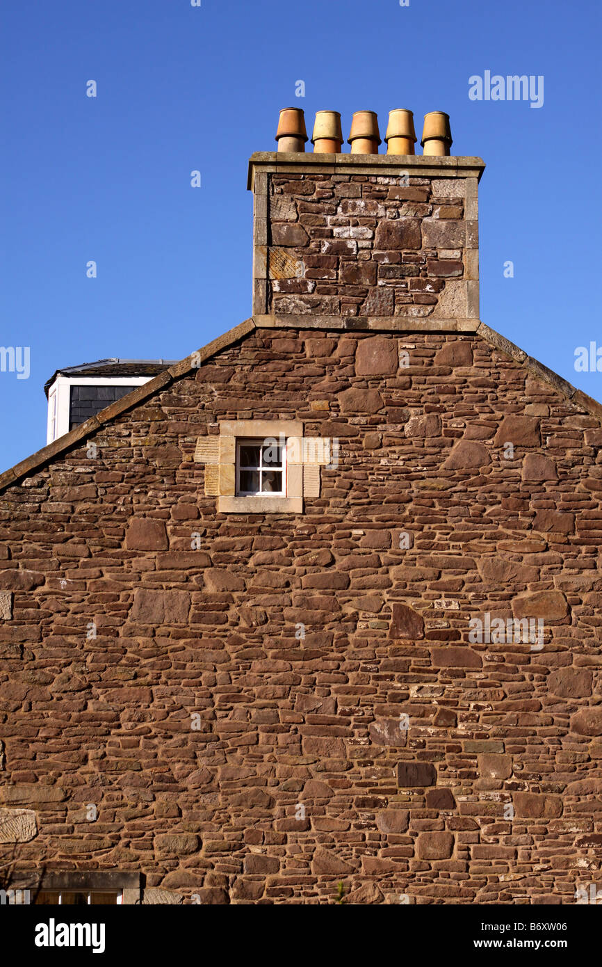 Detail on Robert Owens House New Lanark - Stock Image