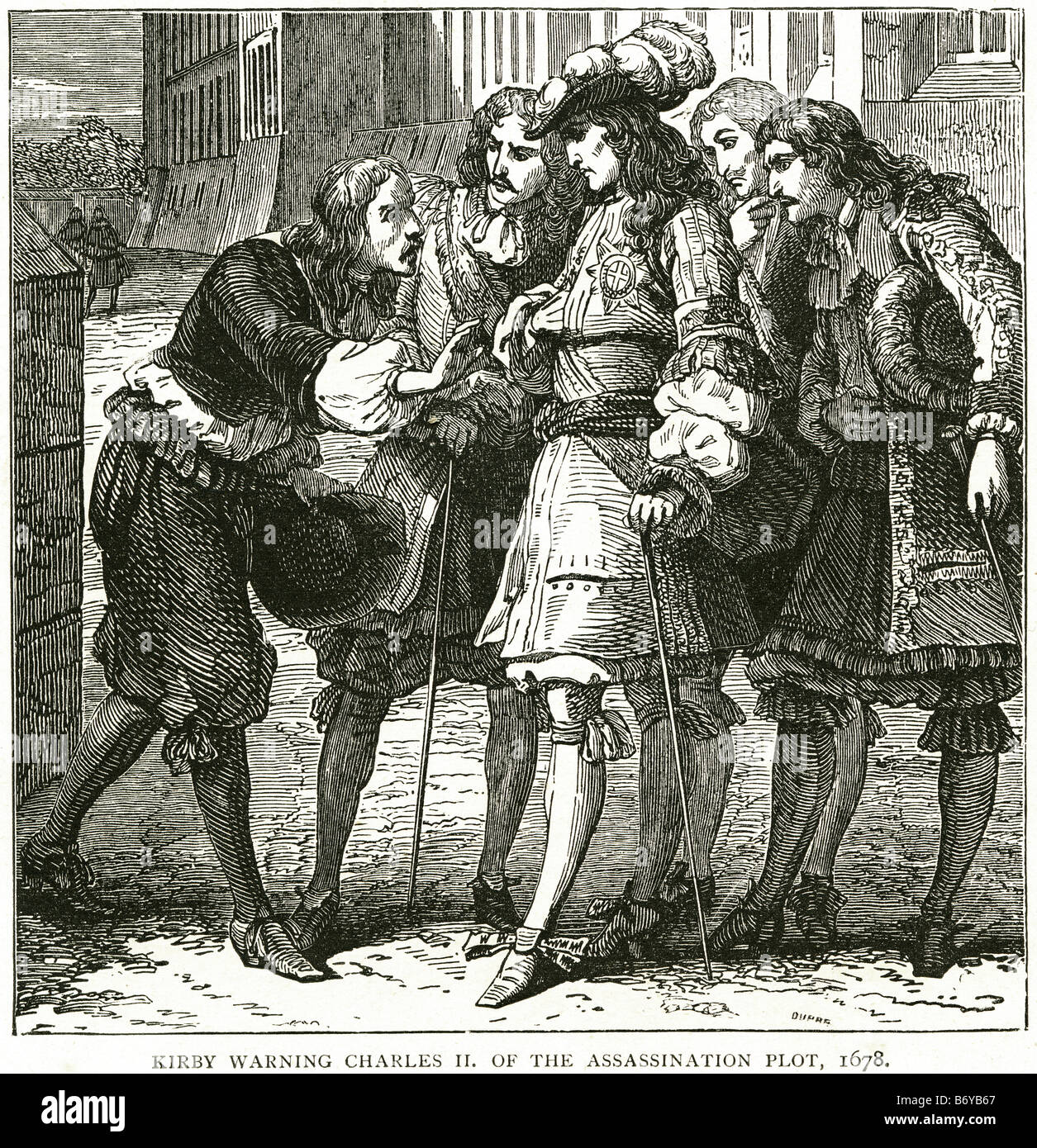 kirby warning charles II of the assassination plot 1678 The Popish Plot was  a fictitious conspiracy concocted by Titus Oates whi