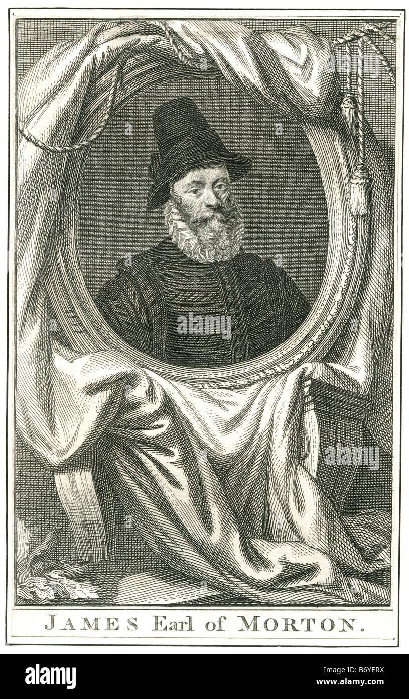 James Douglas, jure uxoris 4th Earl of Morton (c. 1525 – June 2, 1581) was the last of the four regents of Scotland - Stock Image