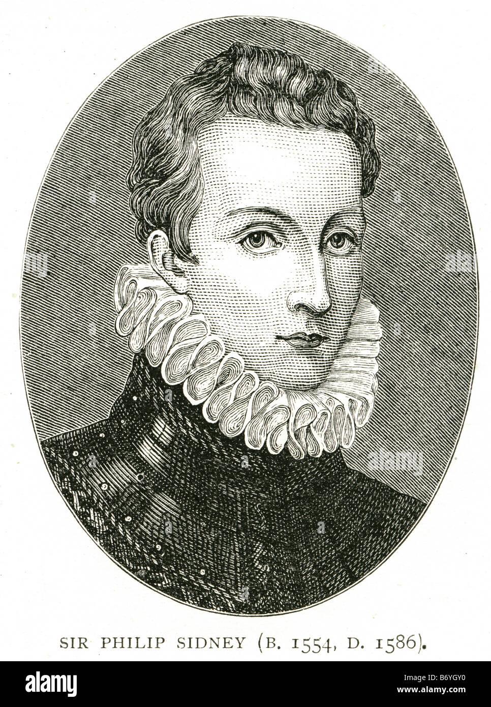 sir philip sidney November 30 1554 – October 17 1586 poet courtier soldier Astrophel Stella Poetry - Stock Image