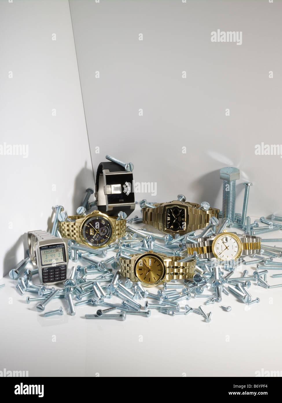 Various wristwatches - Stock Image