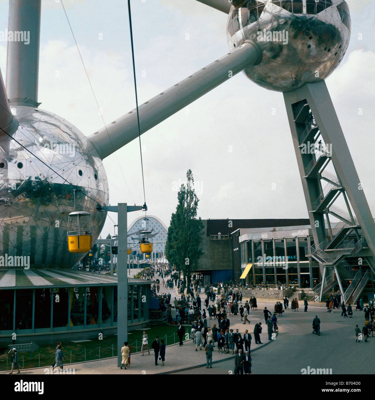 Expo 58, Heysel, Brussels, Belgium, 1958 - Stock Image