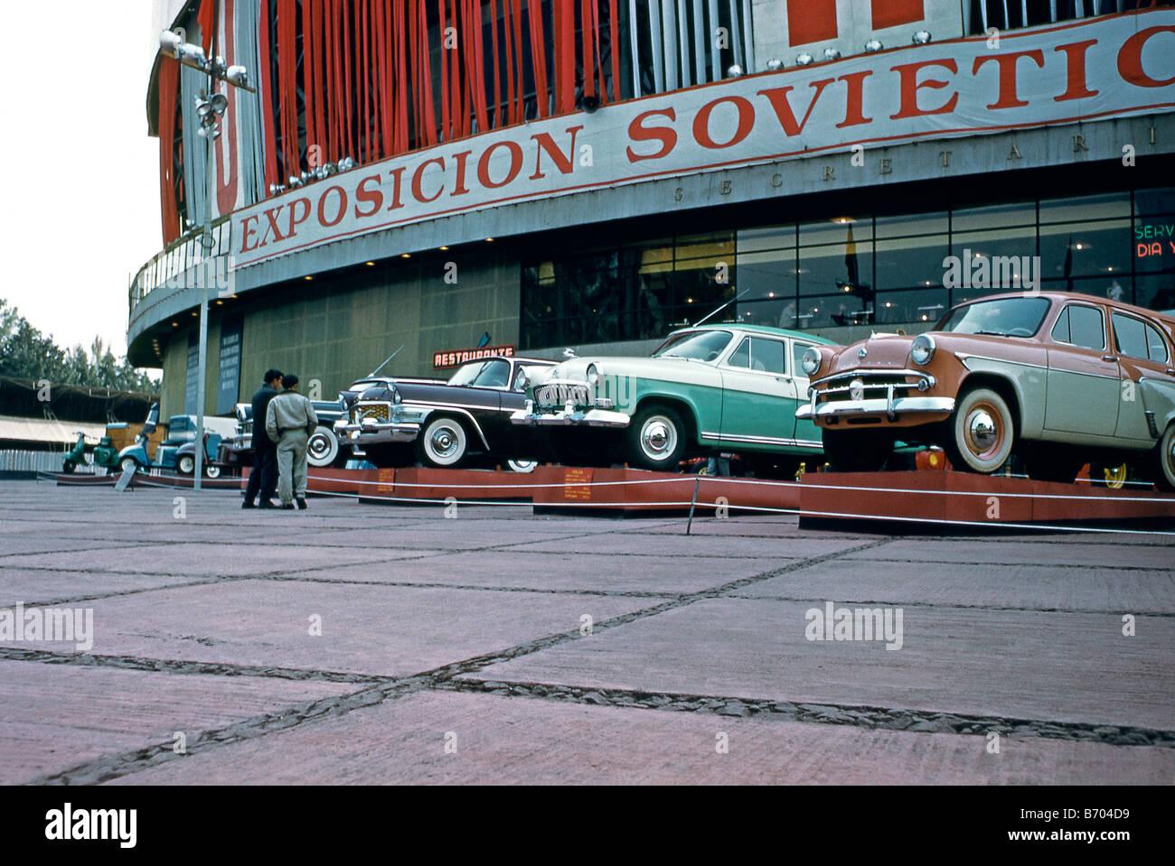 GAZ Chaika Mk 1 car at a Russian trade expo in Mexico City, c. 1966 Stock Photo