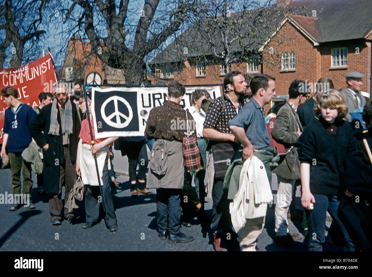 CND (Campaign for Nuclear Disarmament) Aldermaston March, 1962 - Stock Image