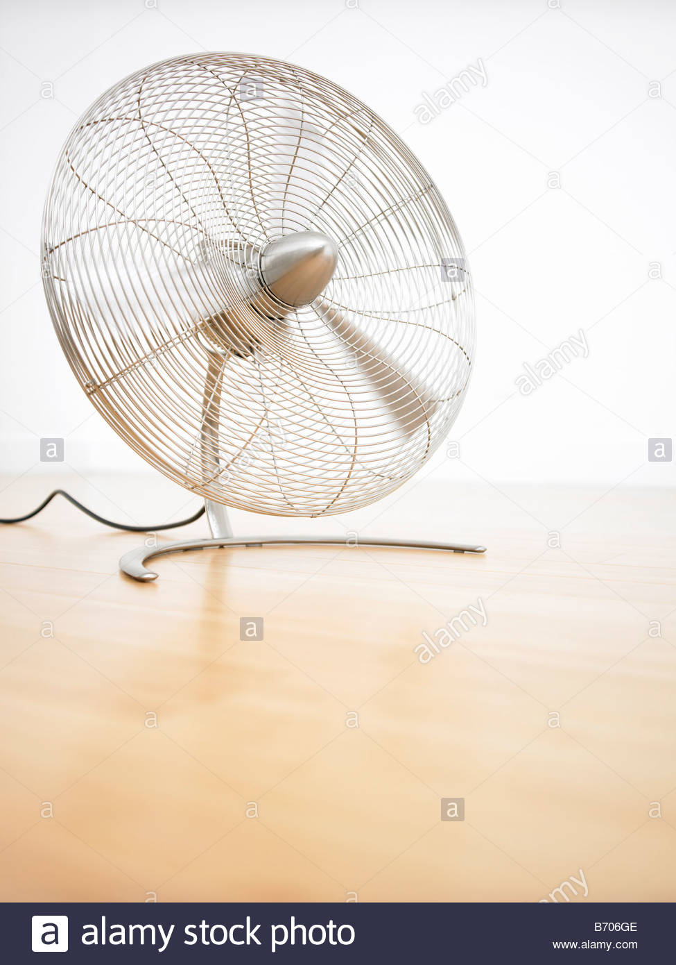 Fan blowing air - Stock Image