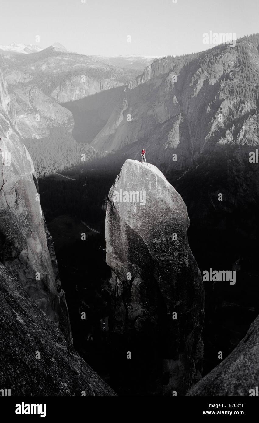 Rock climber, Yosemite, California. - Stock Image