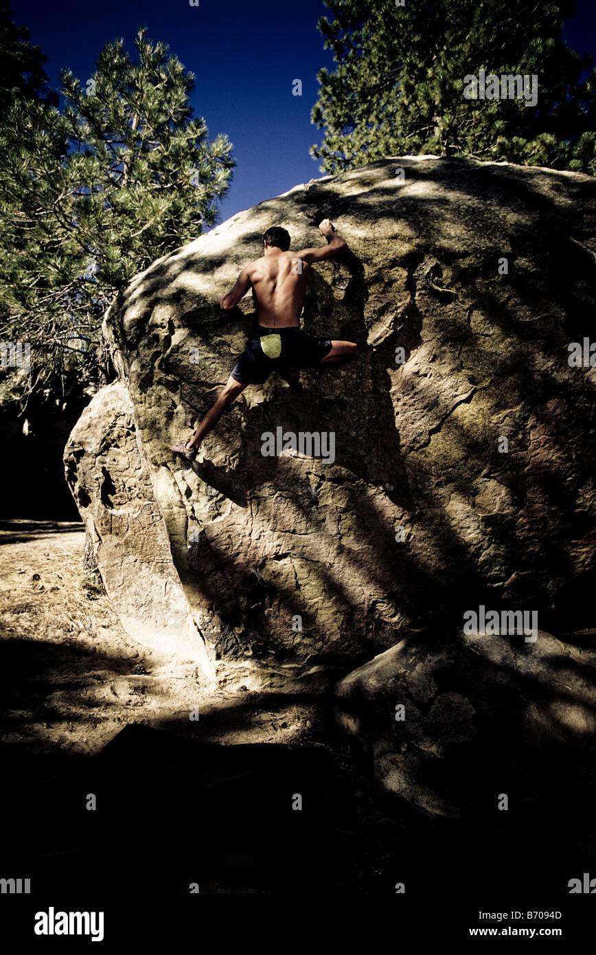 Rock climber, Santa Barbara, California. - Stock Image