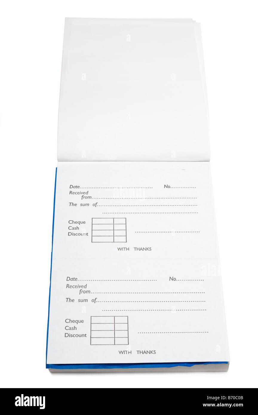 Open duplicate receipt book - Stock Image