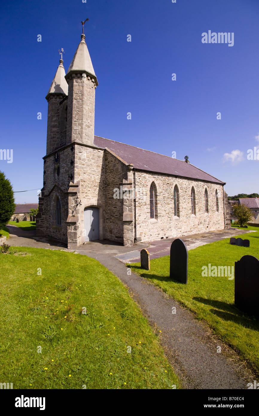 Saint Michael's Church at Betws yn Rhos - Stock Image