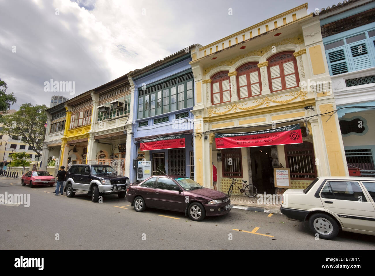 Shophouse on Armenian Street, Georgetown, Penang, where Dr Sun Yat Sen planned the Chinese revolution - Stock Image
