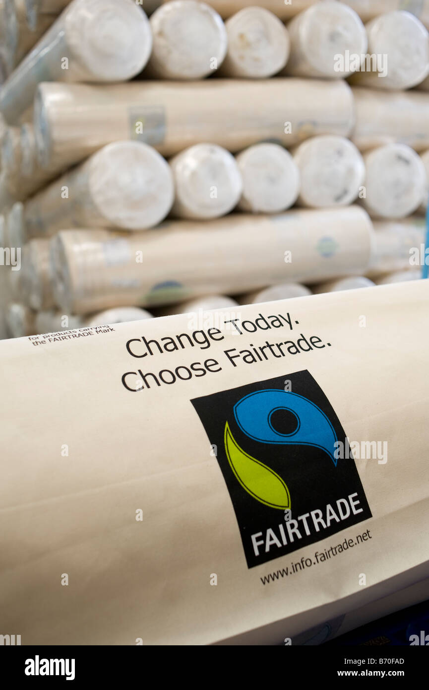 India Miraj , Esteam Apparel Ltd factory process cotton bags for western discounter from fair trade cotton - Stock Image