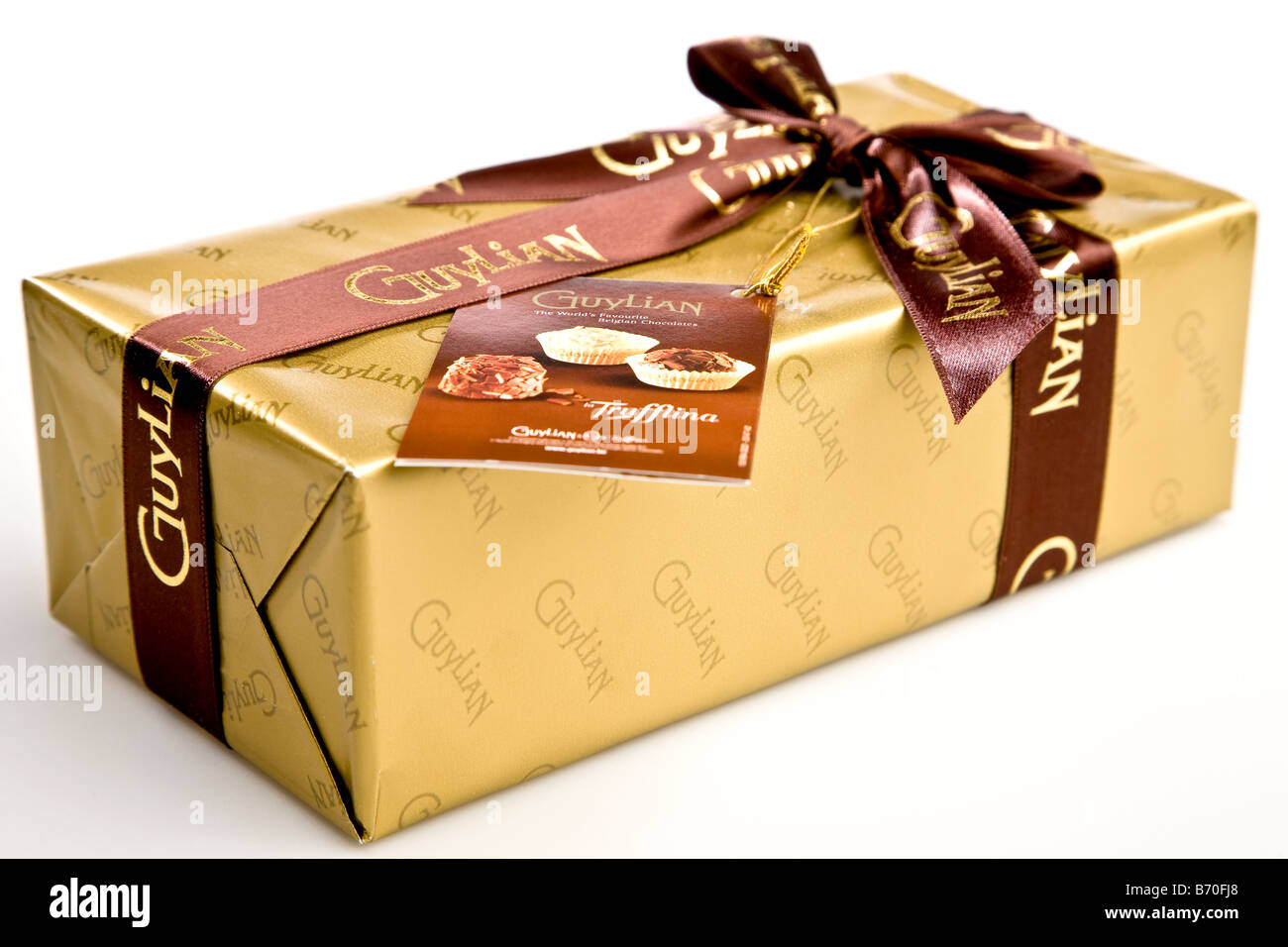 Wrapped up box of chocolates - Stock Image