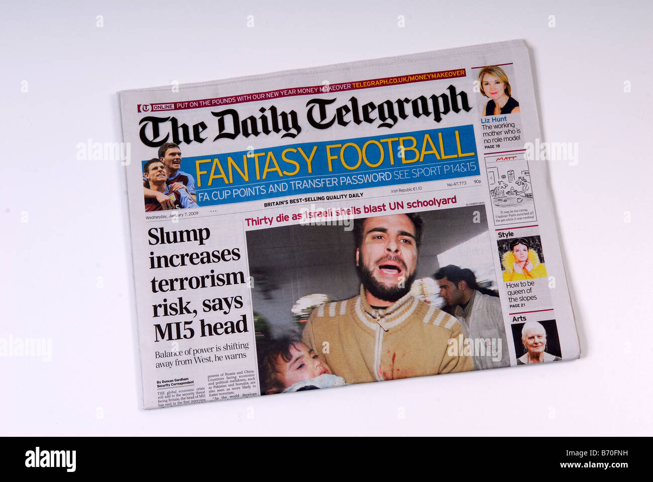 Newspaper.''The Daily Telegraph''. - Stock Image