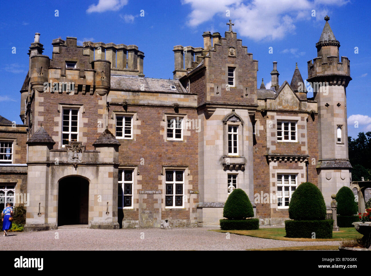 Abbotsford, house home of Sir Walter Scott Scotland UK Scottish author building stately home - Stock Image