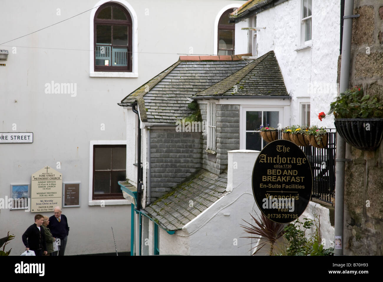 fore street st ives cornwall - Stock Image