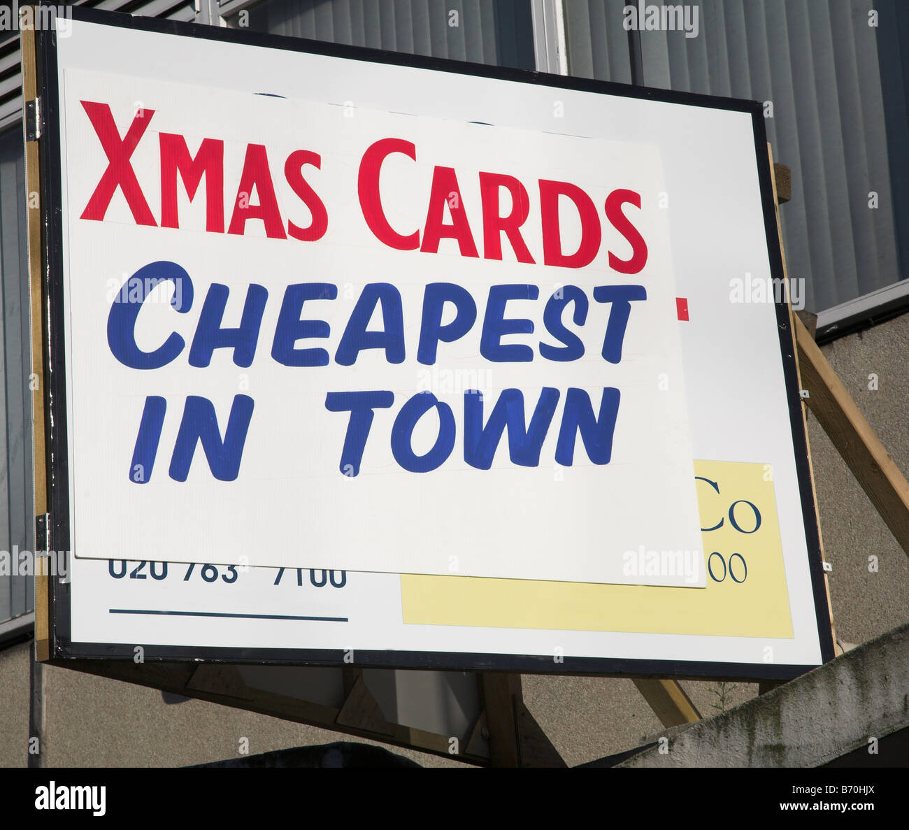 Sign advertising Christmas cards for sale Stock Photo: 21526818 - Alamy