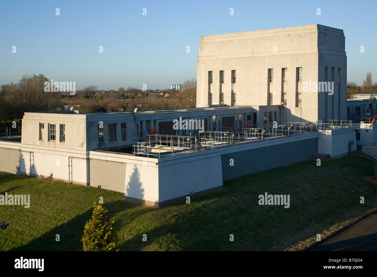 Thames Water treatment works at Kempton Park, Middlesex. UK. (44) Stock Photo
