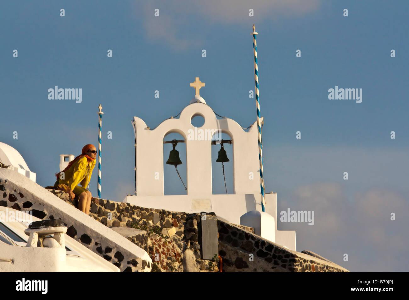 Oia Santorini Cyclades Greece - Stock Image