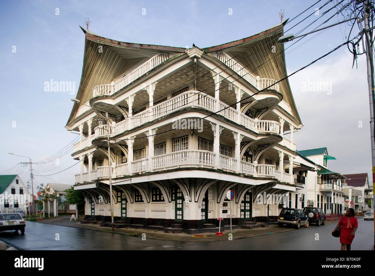 Suriname Paramaribo Old Wooden House In The Historic Inner City Stock Photo 21527871 Alamy