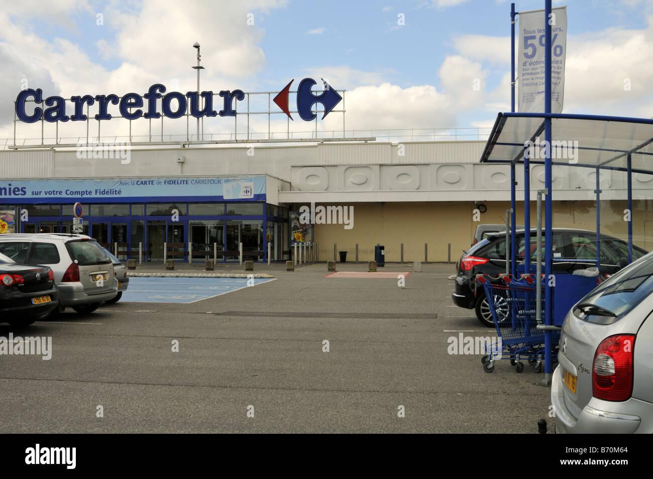 Carte Carrefour Hyper.Carrefour Hypermarket France Stock Photo 21528812 Alamy
