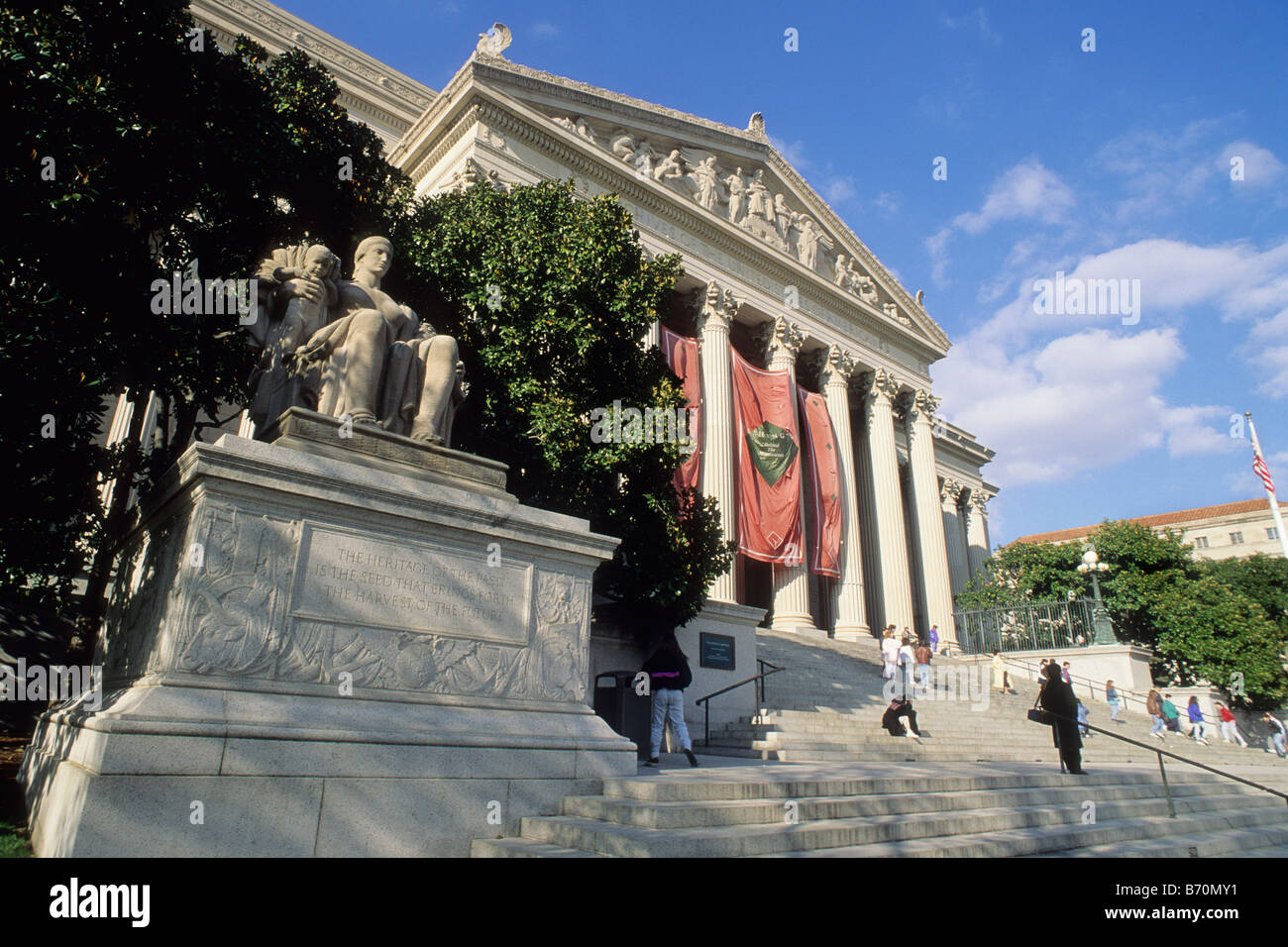 USA Washington DC The National Archives of the United States of America Building Exterior - Stock Image