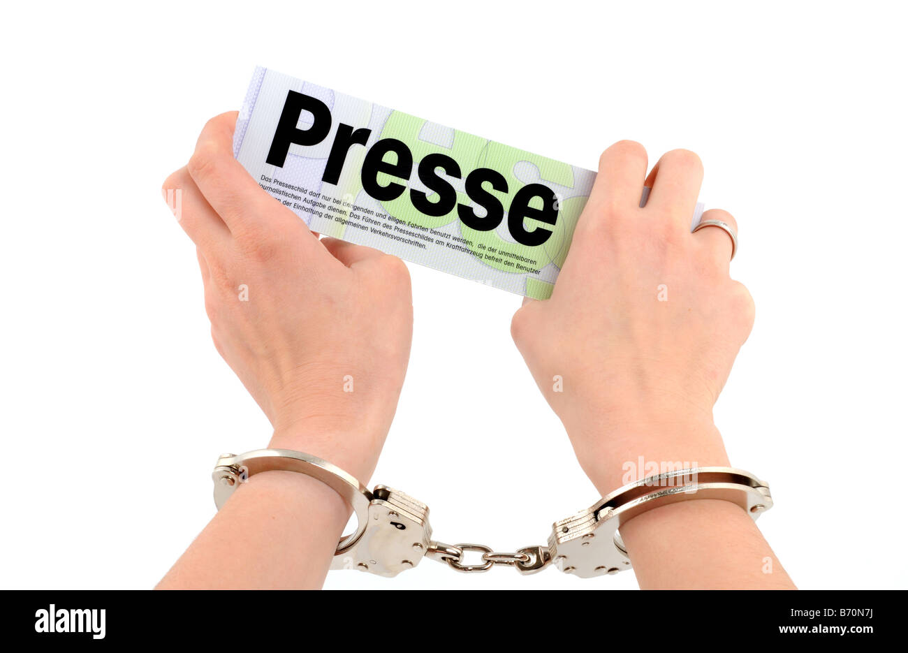 Freedom of the press - Stock Image